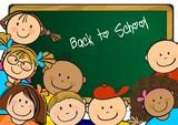 Fototapety Back to school children