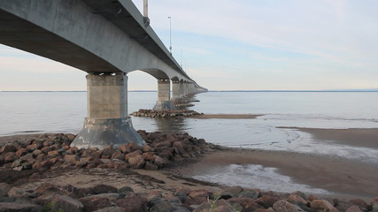 Confederation bridge linking New Brunswick and PEI.