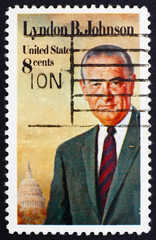 Postage stamp USA 1973 Lyndon B. Johnson