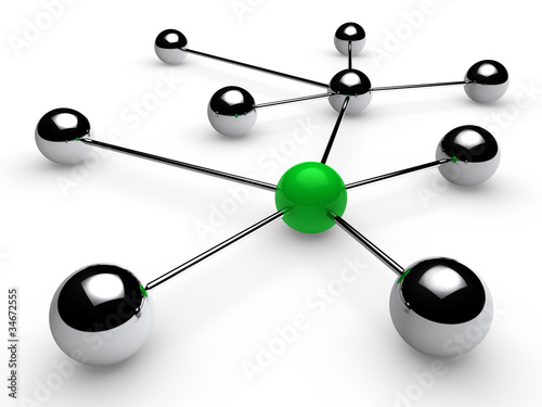 3d chrome green network