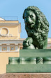 Lion sculpture around Palace Bridge, Saint Petersburg