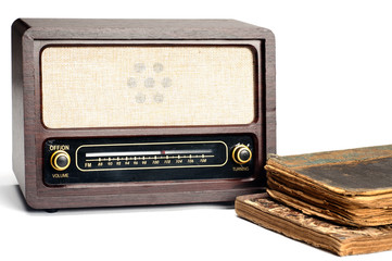 Old Radio with Old Books