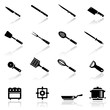 Icons set kitchen utensil
