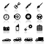 Fototapety Icons set Auto parts