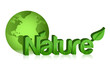 green globe nature illustration design