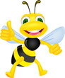 Cute bee with thumb up
