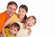 happy family on white