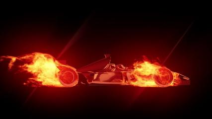Fire race car