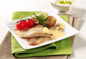 Pan fried fish fillets