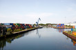 Hafenlandschaft mit Kran und Containern 2