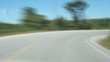 Rural Road. Timelapse shot.