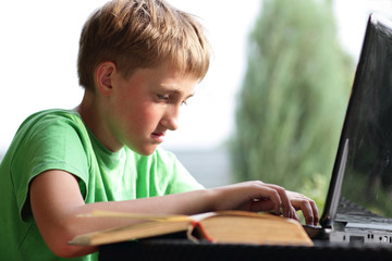 The teenager with a computer