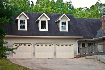 Triple Garage on a House