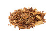 Pile of spilled tobacco (isolated)