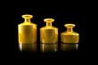 Gewichte aus Gold / in Gold aufwiegen