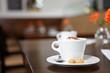 Cappuccino in einem Café