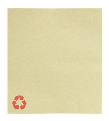 Blank recycle paper isolated