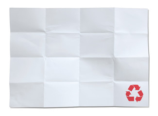white paper of recycle isolated