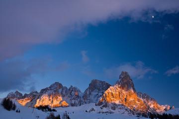 Monte Cimon della Pala e monte Vezzana, Monte Bureloni,Dolomiti