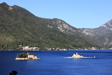 Gospa Od Skprjela and Sveti Djordje islands Kotor bay