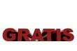 Schriftzug GRATIS rot