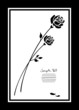 Mourning Card 2 Black Roses