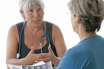 Commentaire  du médecin sur l'IRM de la patiente