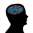 Silhouette head - Social Network