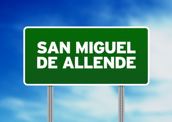 Green Road Sign - San Miguel de Allende