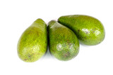 Ripe green avocado. Isolated