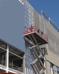 A Scissor Lift Platform on a construction site
