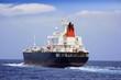 Petrolero en navegación
