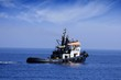 Remolcador en alta mar