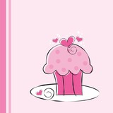 Cute Pink Cupcake
