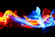 canvas print picture - Fire and ice