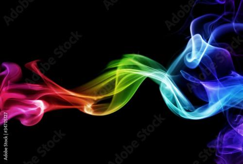 canvas print picture Colorful smoke