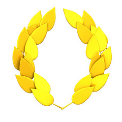 Gold laurel wreath 3d