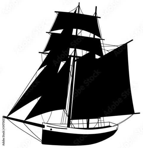 Segelboot zeichnung schwarz  GamesAgeddon - Segelboot Segelschiff Silhouette Schiff Boot ...