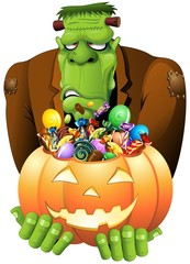 Frankenstein Halloween Zucca Caramelle-Pumpkin Candy and Sweets