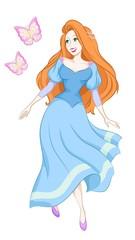 princess with butterflies