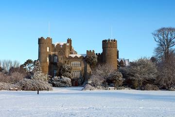 Malahide Castle Snow Covered