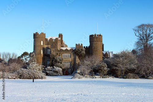 Malahide Castle Snow Covered - 34713592