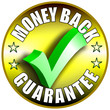 Money Back Guarantee Button/Label - golden version