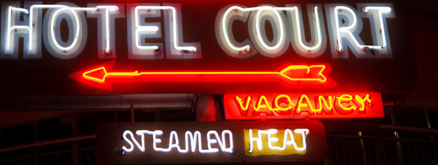 Old Fashioned Hotel Sign