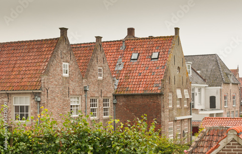 Colorful houses in the historic Dutch town of Heusden