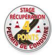 """Panneau """"Stage récupération 4 points permis de conduire"""""""