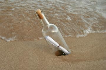 botella + mensaje
