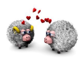 Pecore innamorate