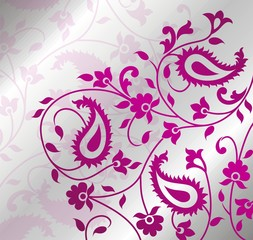 paisley floral pattern swatch,India