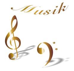 violinschlüssel und baßsclüssel